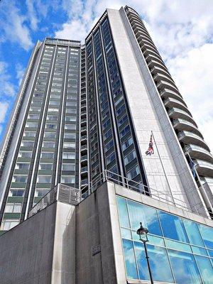 Park Lane Hilton Hotel overlooks Curzon Street