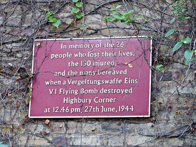 V1 memorial Highbury Corner