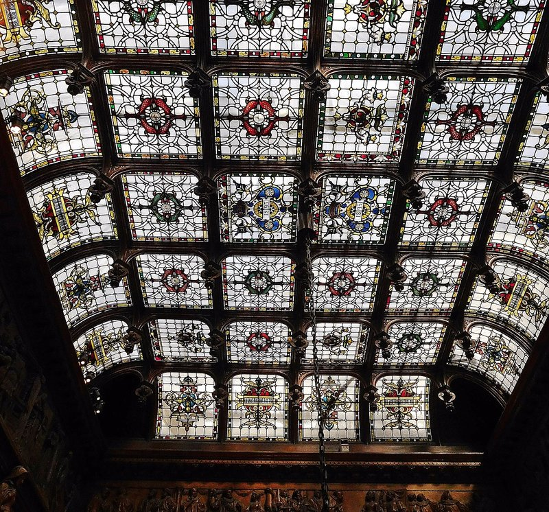 Two Temple Place: glass ceiling over staircase