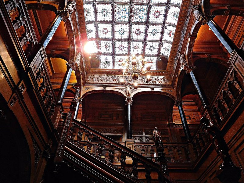 Two Temple Place: staircase and glass ceiling