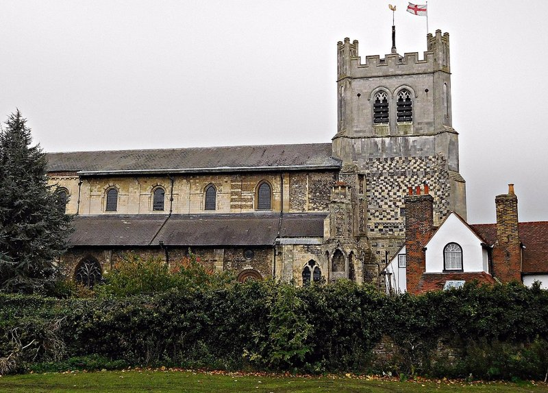 North side of Waltham Abbey Church and rectory