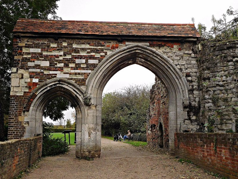 Waltham Abbey ruined Gateway from outside