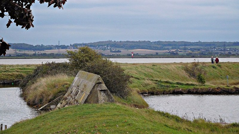 The moat at Coalhouse Fort