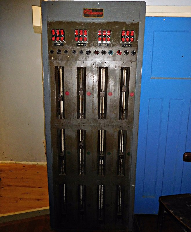 Bata cinema stage original lighting controls