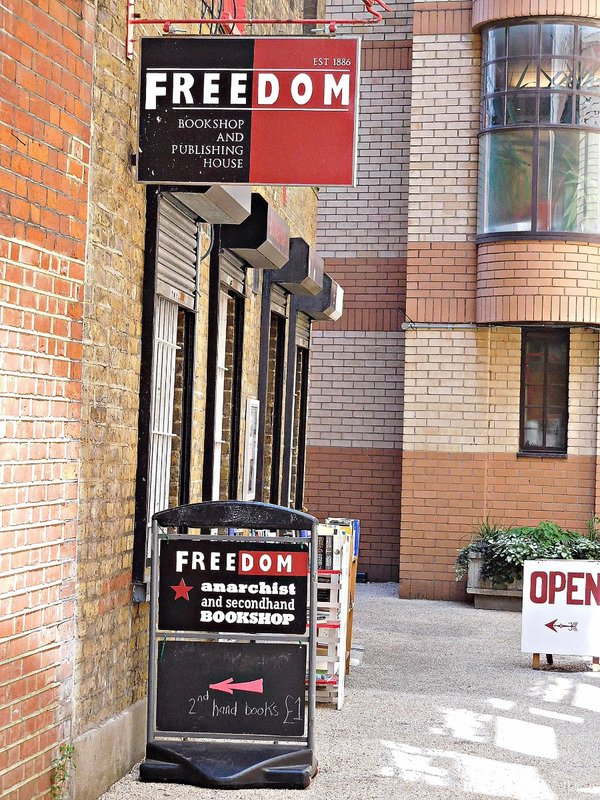 Whitechapel Art Gallery: Anarchist bookshop