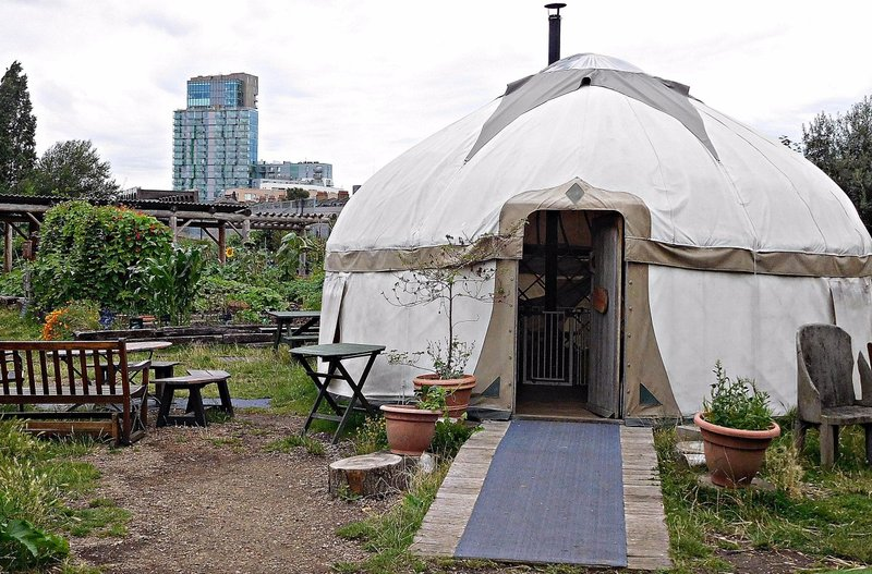 Spitalfields City Farm yurt