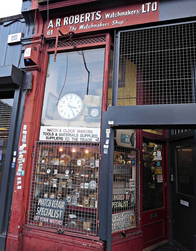 Watch repair shop Goldhawk Rd