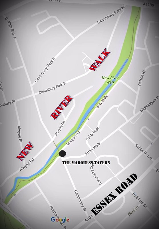 NEW RIVER WALK: map
