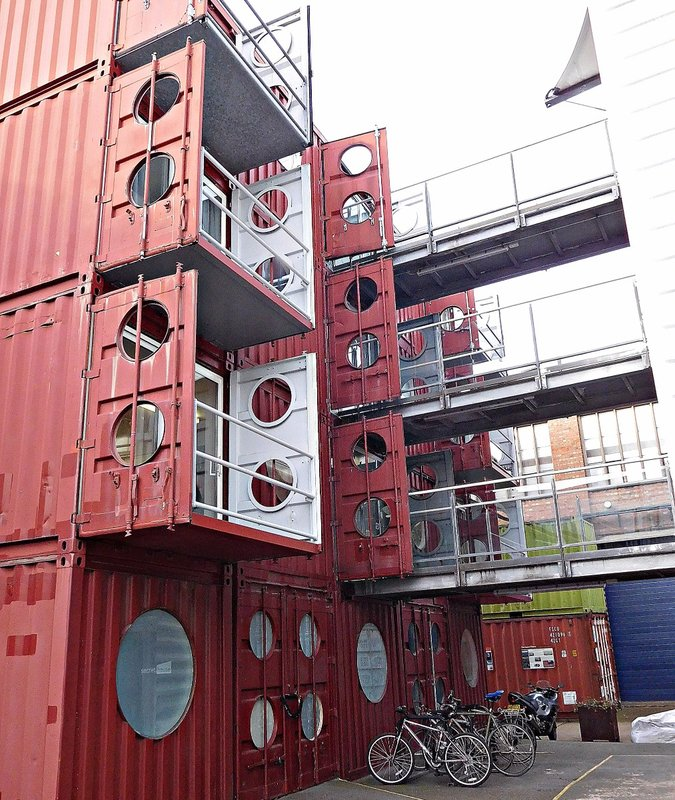 Container City: balconies