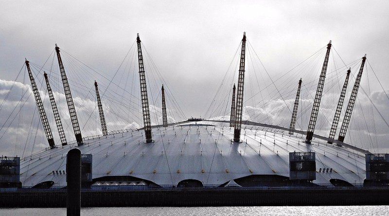 Trinity Buoy Wharf: view of Millennium Dome