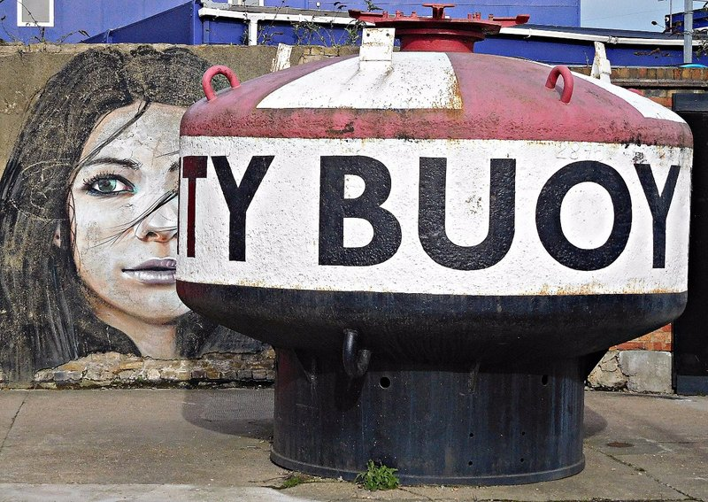 Buoy and girl