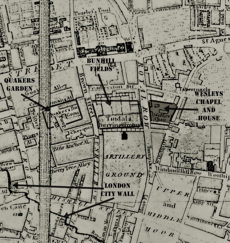 1781 map of Royal Row, which is now the part City Road south of Old Street
