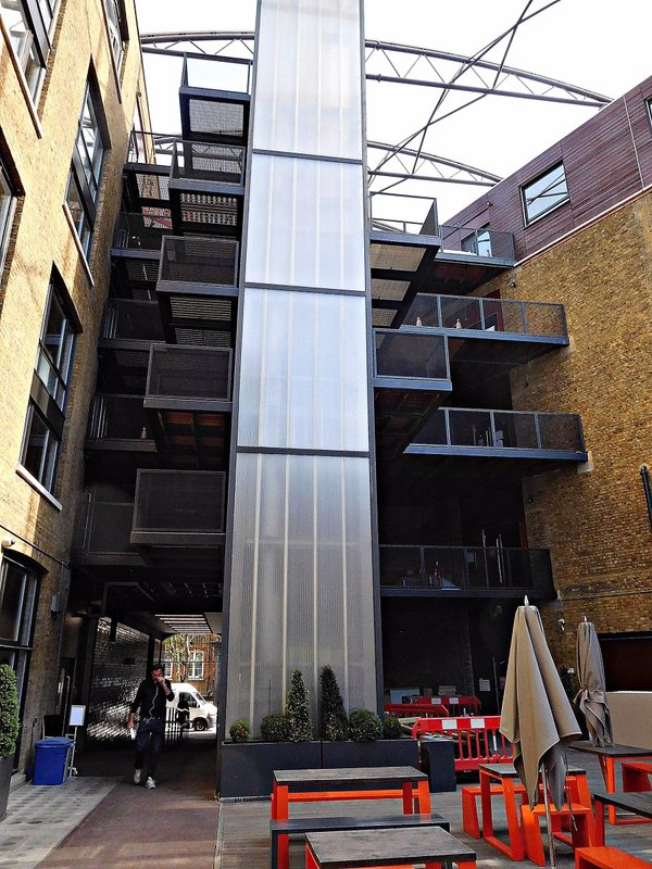 Former  London School Board stores: modified internal courtyard