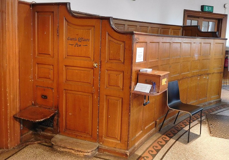 St James Church: Church officers' box pews