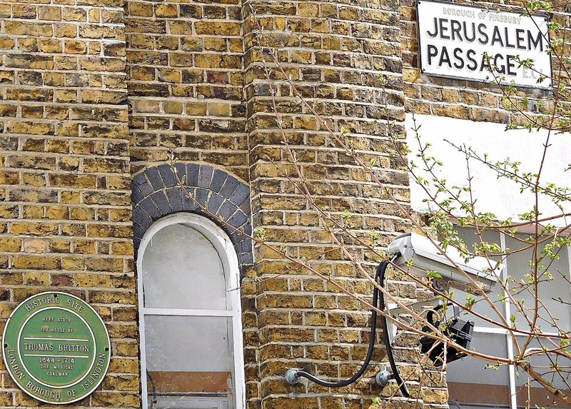 Jerusalem Passage: Thomas Britton lived and worked here
