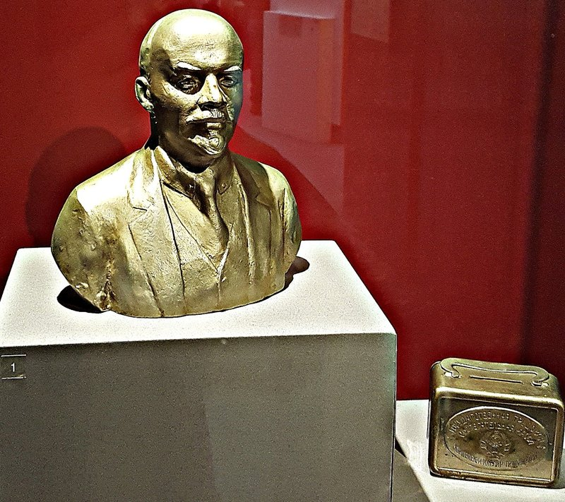 Lenin and a Soviet money box