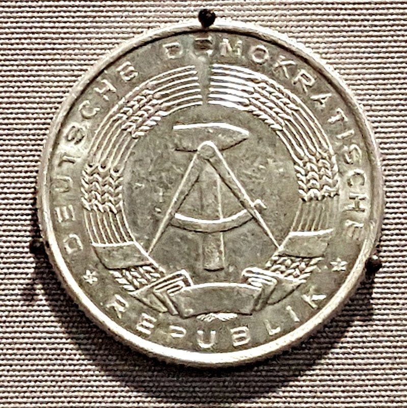 Aluminium coin from the DDR