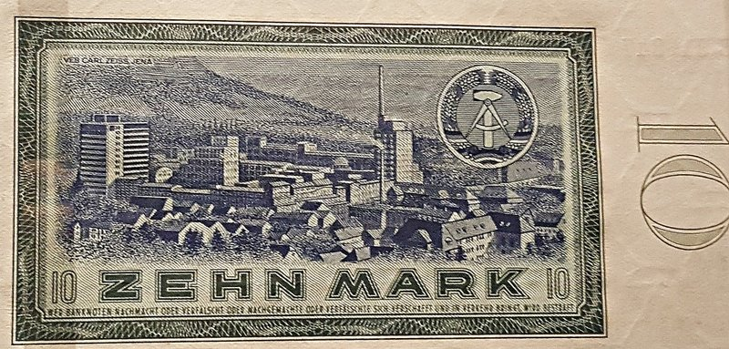 DDR banknote with factory
