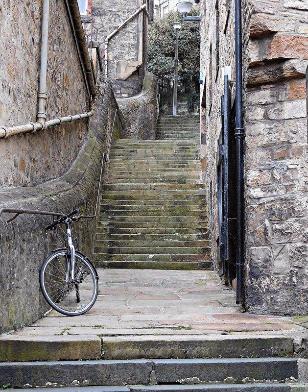 EDDEAN 13 Staircase leading up through Dean Village