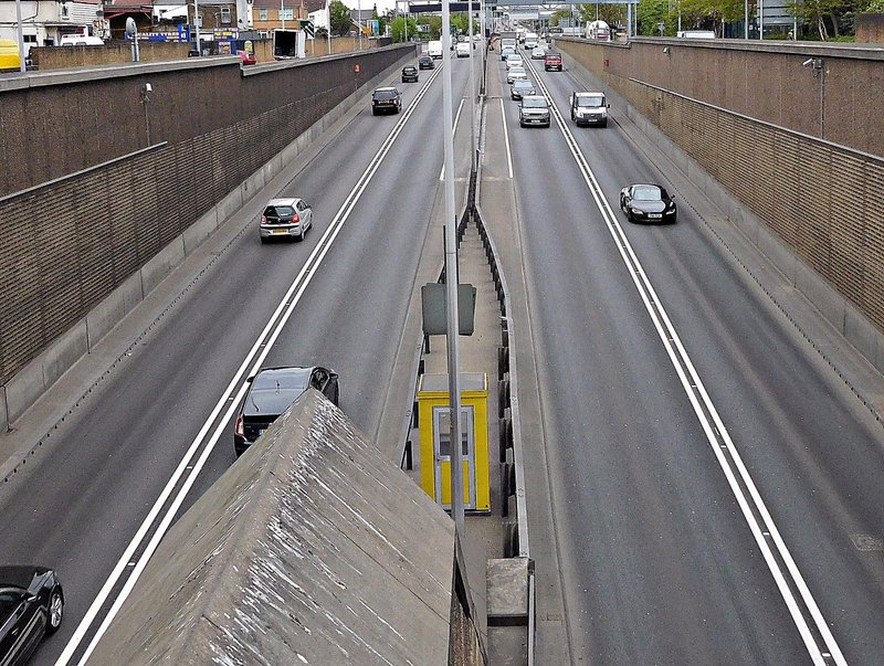 North Circular underpass opening at Angel Edmonton
