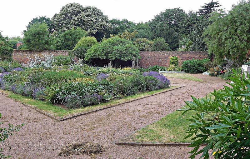 view into Pymmes walled garden