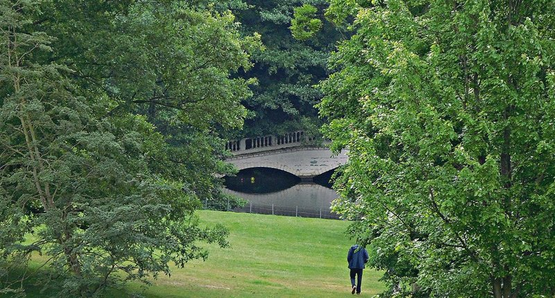 Kenwood lake and bridge