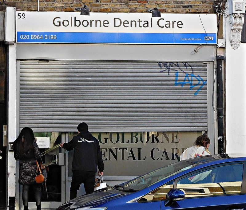 Dental Surgery, 59 Golborne Rd, where Adam yamey worked