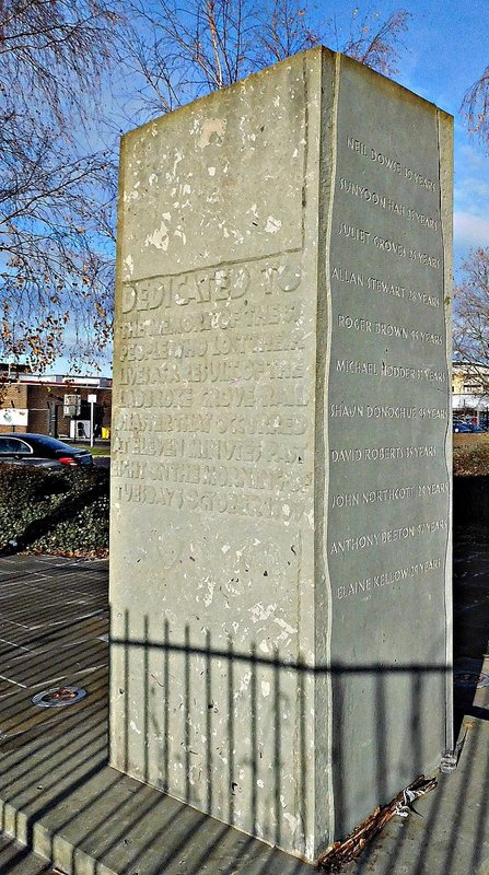 Ladbroke Grove railway crash monument