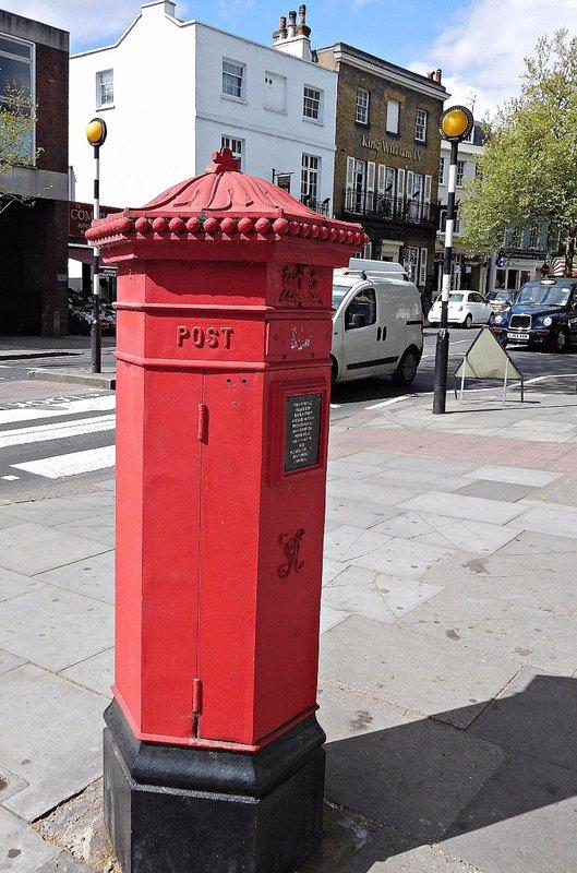 Hampstead High Street:  Victorian post box