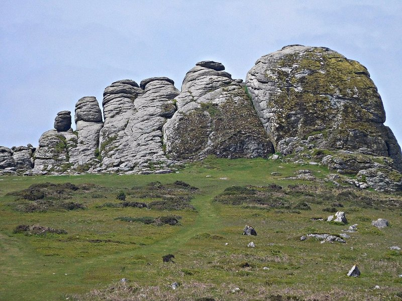 Granite summit of  Haytor