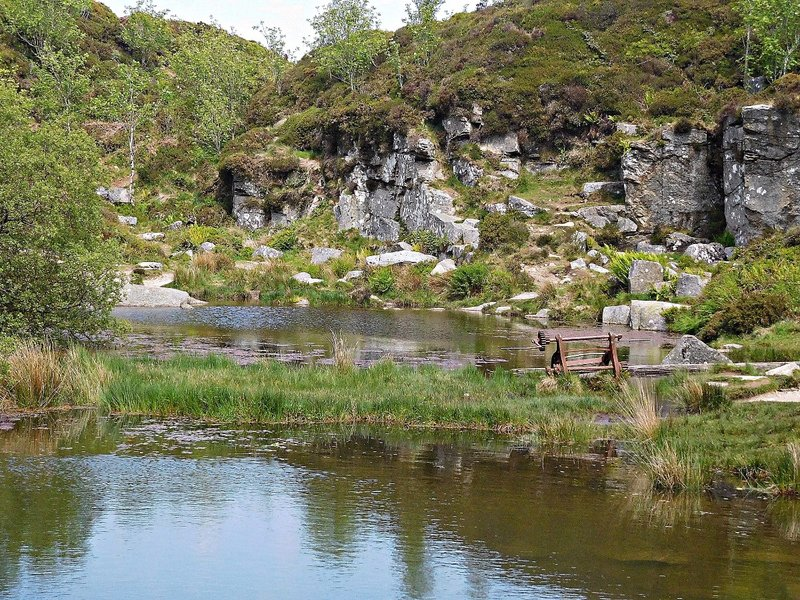 Haytor Quarry and winch