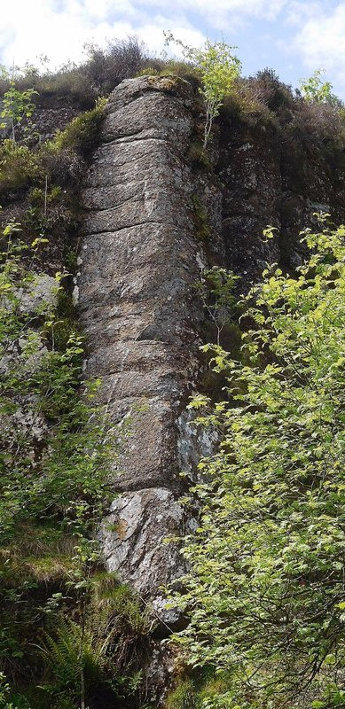 Haytor Quarry: wall