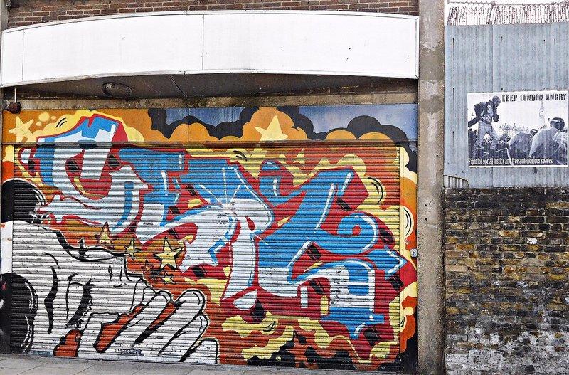 Graffiti near Hoxton Station