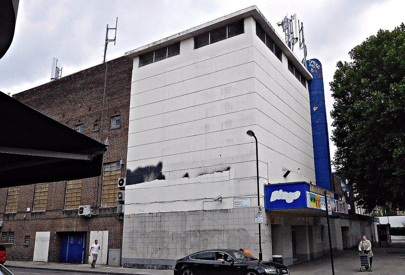 Former Odeon cinema on  Hackney Road at Dawson Str