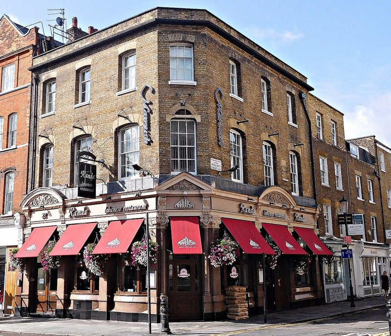 The former Catherine Wheel pub on Kensington Church Street