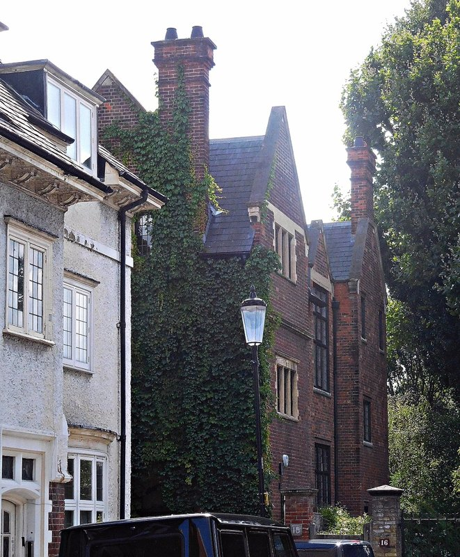 St Mary Abbots Place White Eagle Lodge and  Llewellen's brick house