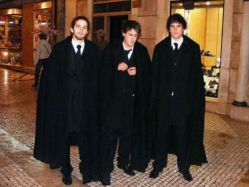 PORTO Three students in cloaks