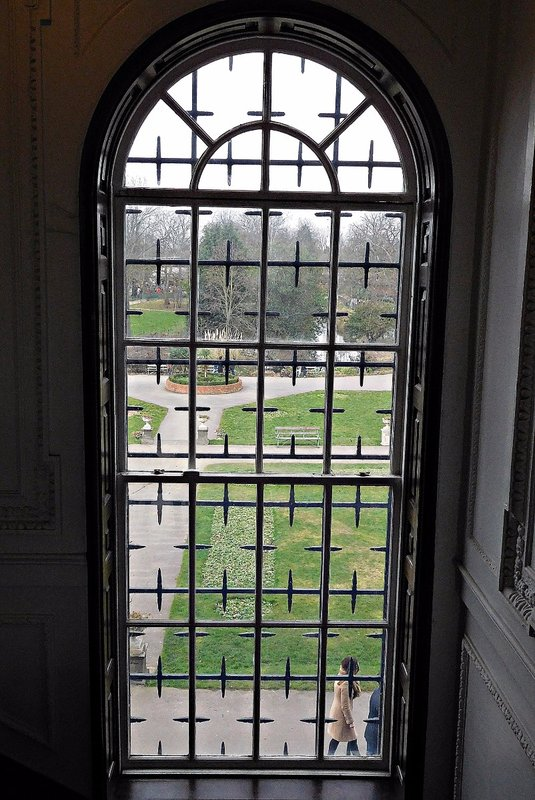 Lloyd Park: viewed through window of William Morris Gallery