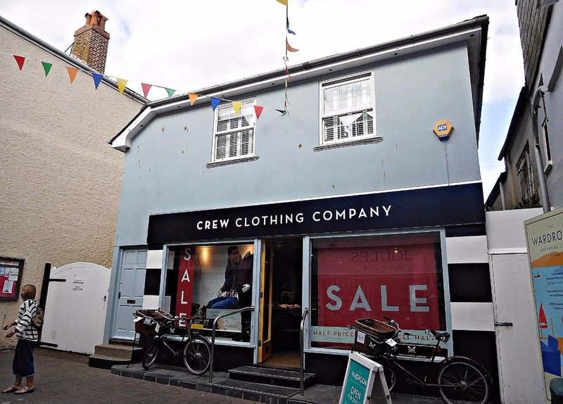 The original Crew store in Fore Str Salcombe