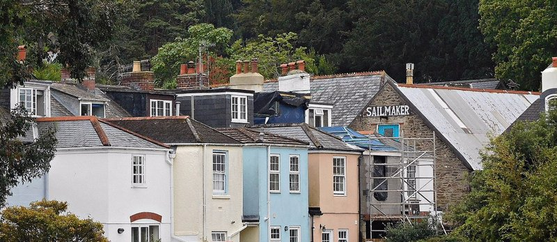View from Shadycombe Lane. Sailmaker in Salcombe