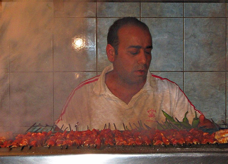 Kebabs at  Arcola Street Mangal
