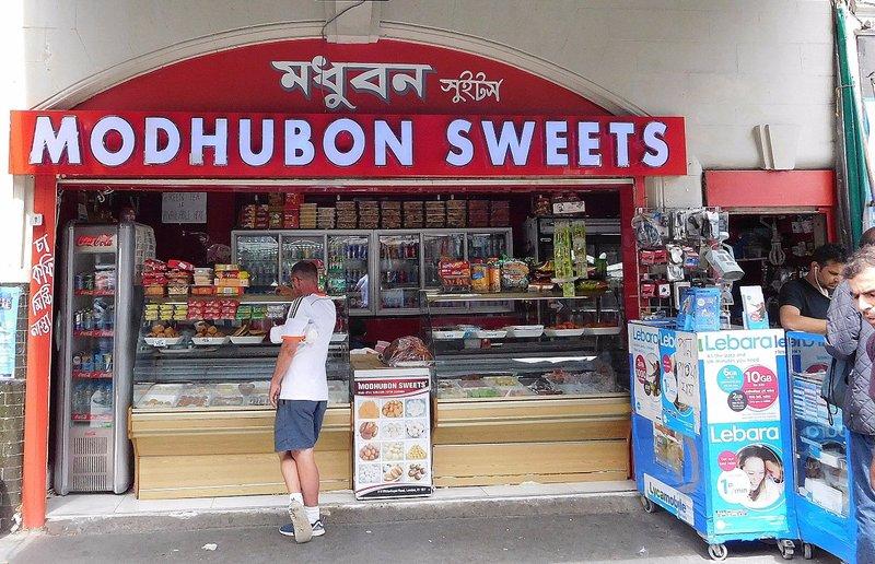 Sweet shop in  Whitechapel Rd