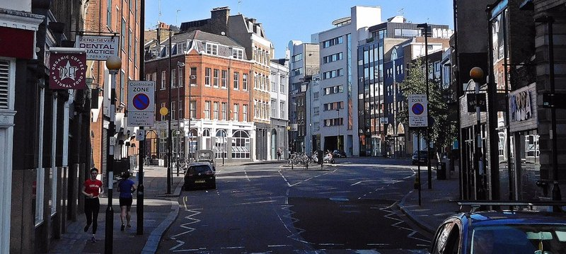 South end St Johns Str showing widening