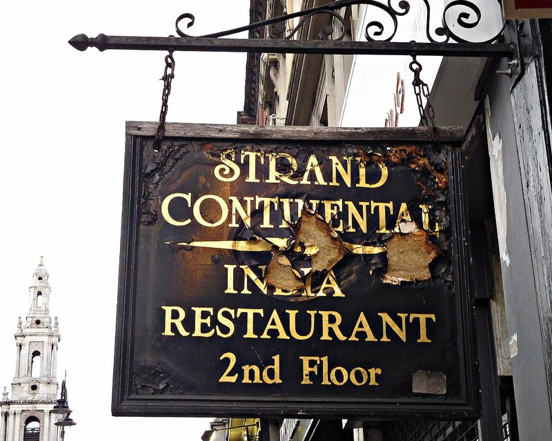 STRAN 5a India Restaurant and St Mary le Strand
