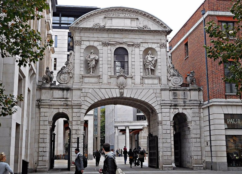 Original Temple Bar, now in Paternoster Sq