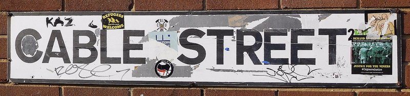 Cable Street: street sign