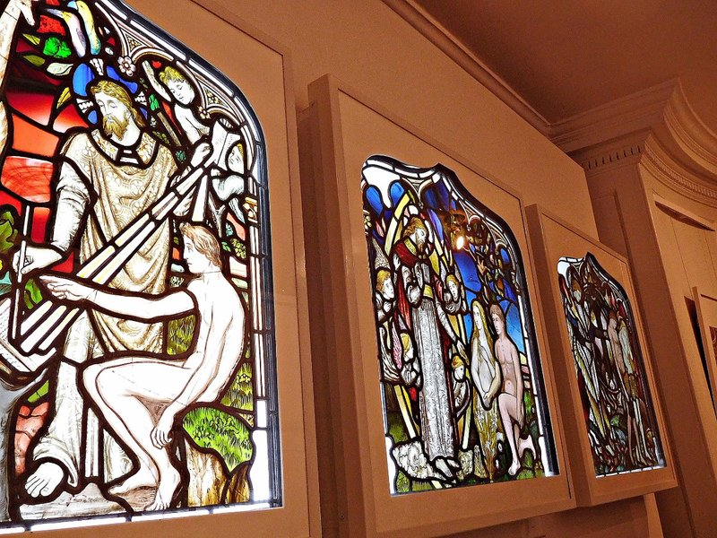 William Morris Gallery: stained glass by a pre-Raphaelite artist