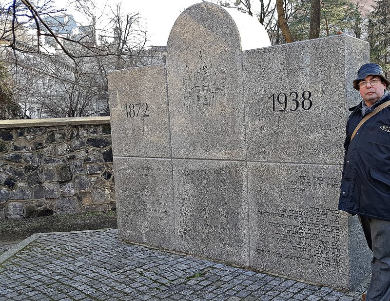 WROC 32 Monument on site of demolised New Synagogue