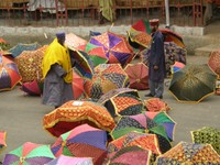 Choosing the Priest's umbrella for Timkat