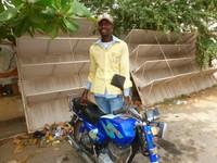 The safest Taxi Moto driver in Cotonou, Benin